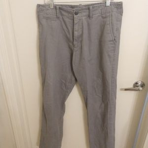 Old Navy relaxed straight fit 34x34 grey chinos